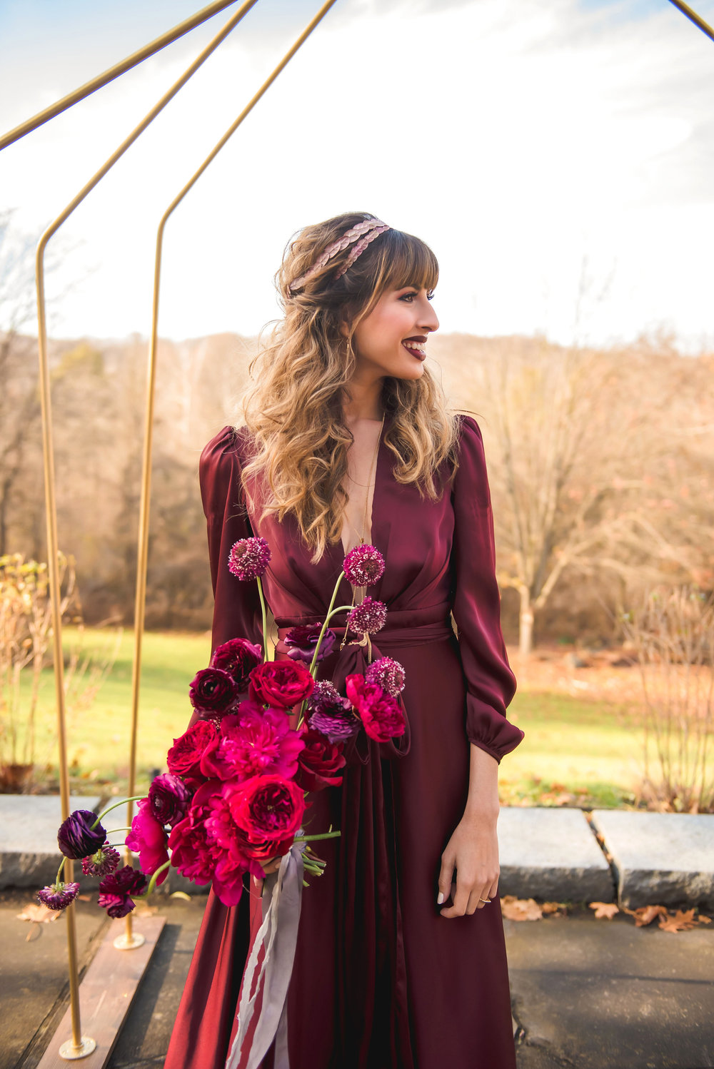 Bouquet by  Passionflower , Hair and Makeup by  Jill Sollars , Photo by  E Schmidt Photography