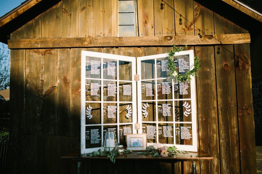 Window Table Seating Chart, Photo by Nicole Haley Photo
