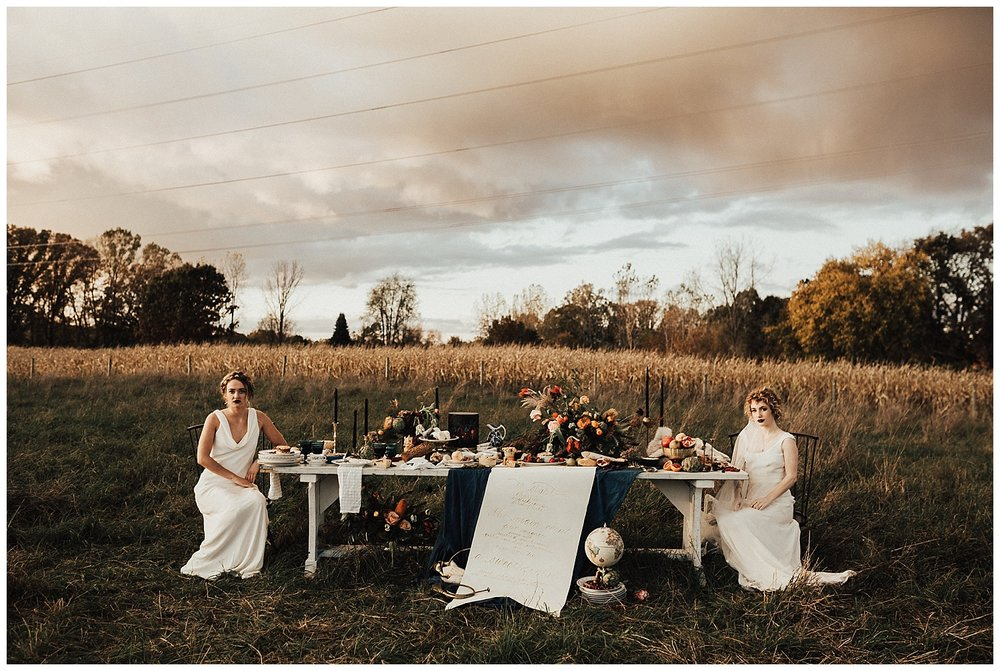 Cornman Farms Wedding, Tablescape, Michigan Calligrapher