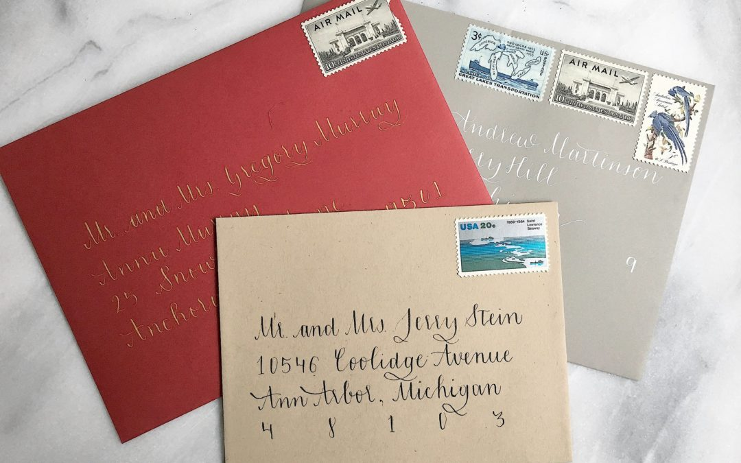 Holiday Envelope Calligraphy!