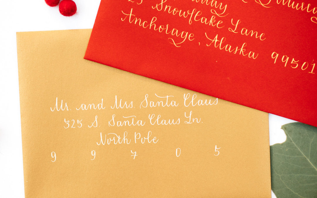 Holiday Envelope Calligraphy Now Available for Sign Up!