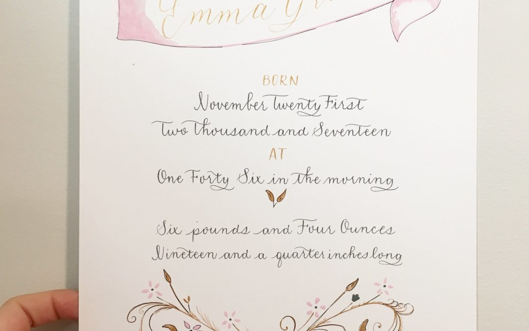 A Very Special Birth Announcement