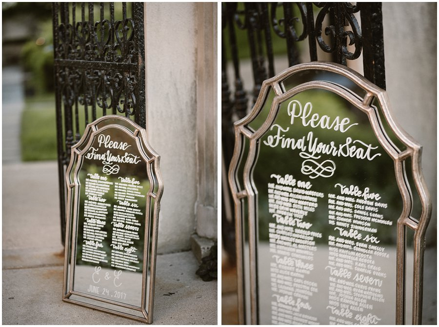 How To: Make a Mirror Seating Chart
