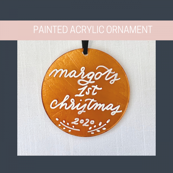 painted acrylic ornament