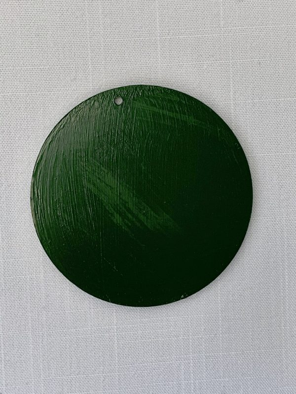 green painted ornament